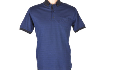 BENSU SHORT SLEEVE POLO TOP NAVY