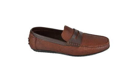 MARIO RIVALI 11653 LEATHER DRIVING SHOE BROWN