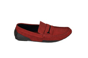 MARIO RIVALI 10903 2-TONE LEATHER DRIVING SHOE RED