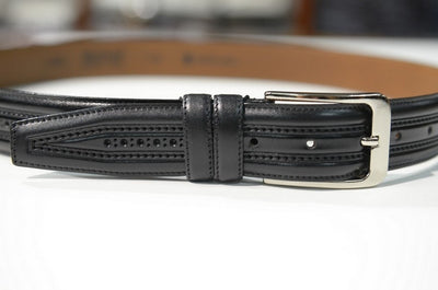 BOND 11053 LEATHER BELT BLACK