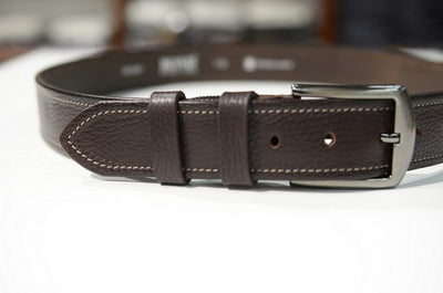 Embossed Pattern Belt BROWN