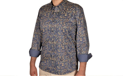 CAVANNA 12284-4 PRINT SHIRT BLUE