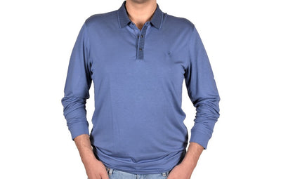 KERASUS 14110 3 BUTTON POLO BLUE