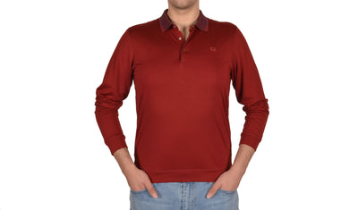 KERASUS 14110 3 BUTTON POLO BORDO