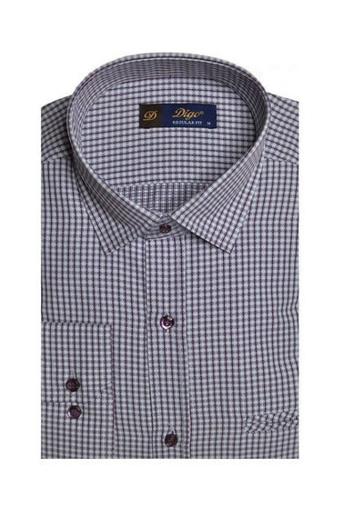 DIGO 450 MINI CHECK CITY SHIRT BORDO