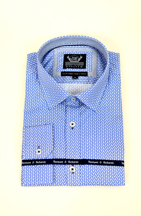 THOMSON AND RICHARDS ARJEN SHIRT BLUE