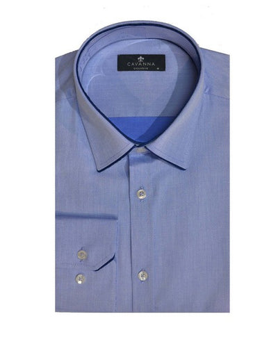 CAVANNA C1 CONTRAST PIPING CITY SHIRT BLUE