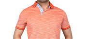 Cabaret Tonal Cross Dye Polo Top ORANGE