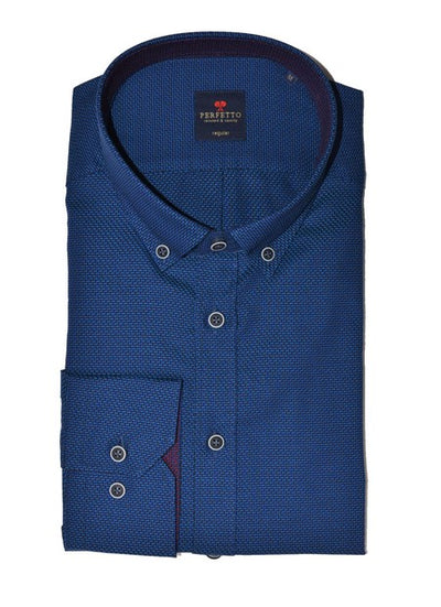 PERFETTO 1459 CHECK SHIRT BLUE
