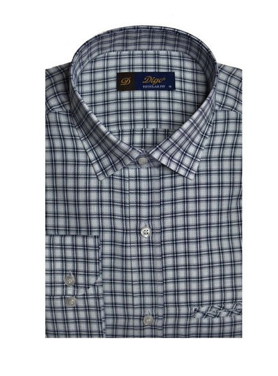 DIGO 16128 MINI CHECK SHIRT BLACK