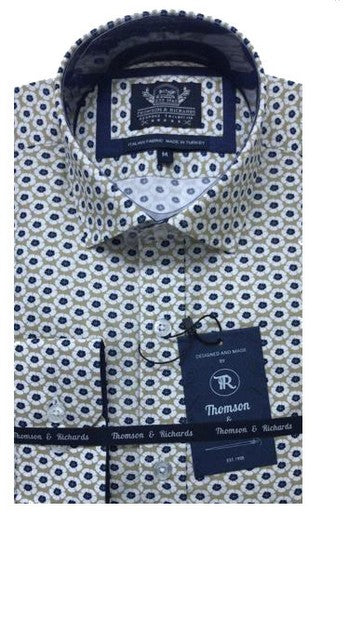 THOMSON & RICHARDS-THE NEMJANA SHIRT NAVY