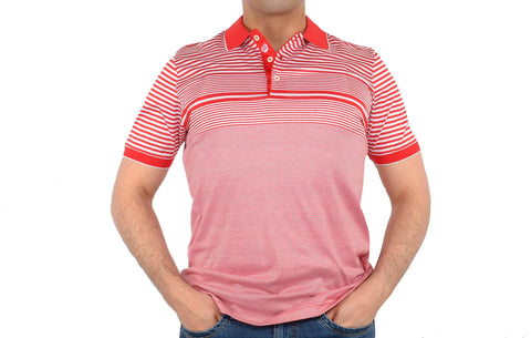 CABARET MERCERISED COTTON POLO TOP RED