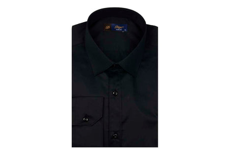 Digo Slim Satin Shirt BLACK