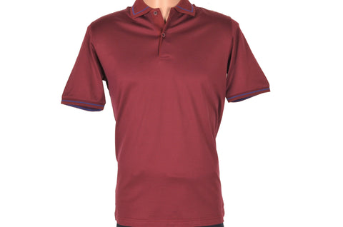 DIGO SHORT SLEEVE POLO TOP BORDO