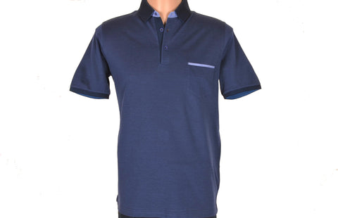 DIGO SHORT SLEEVE POLO TOP NAVY