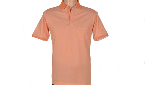DIGO SHORT SLEEVE POLO TOP ORANGE