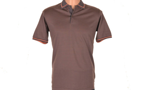 DIGO SHORT SLEEVE POLO TOP MOCCA