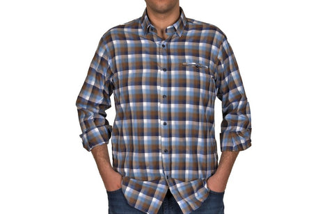 DIGO LARGE CHECK SHIRT. NAVY