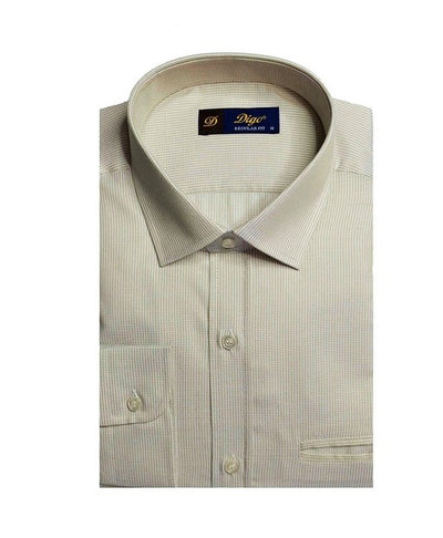 DIGO 5706 MINI CHECK SHIRT BEIGE