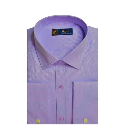 DIGO 6088 PATTERNED FRENCH CUFF SHIRT LILAC