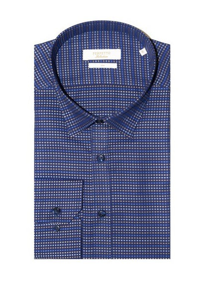 PERFETTO 4089 LS CASUAL SHIRT NAVY