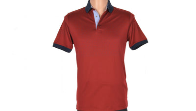 CABARET SHORT SLEEVE POLO TOP BORDO