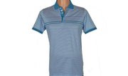 CABARET SHORT SLEEVE POLO TOP BLUE