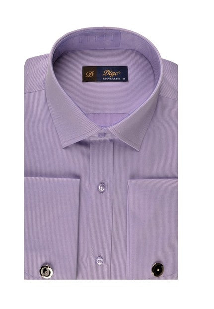 DIGO FRENCH CUFF SHIRT LILAC