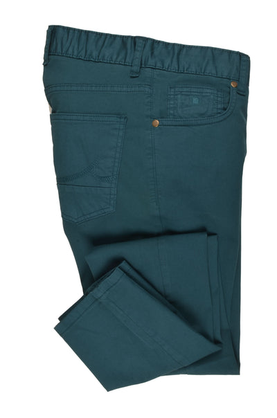 CANELIA SLIM STRETCH CHINO TEAL