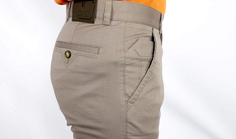 NOVIO STRETCH COTTON CHINO TAUPE