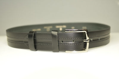 P&S MICHAEL 38MM LEATHER BELT BLACK