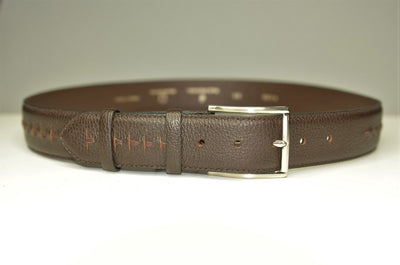 P&S MICHAEL 38MM LEATHER BELT BROWN