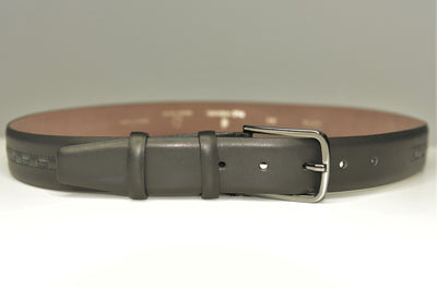 P&S MICHAEL 32MM LEATHER BELT BLACK