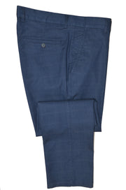 PERFETTO 1801 TAPERED LEG STRETCH CHECK TROUSER