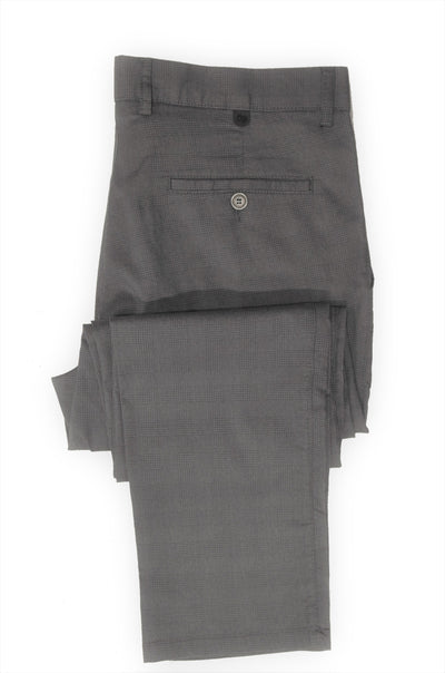 PERFETTO 1920 CHECK CHINO CHARCOAL