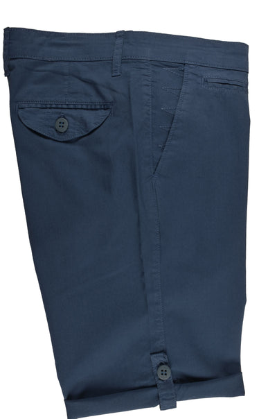 RABIN STRETCH SLIM FIT TAB LEG SHORT BLUE