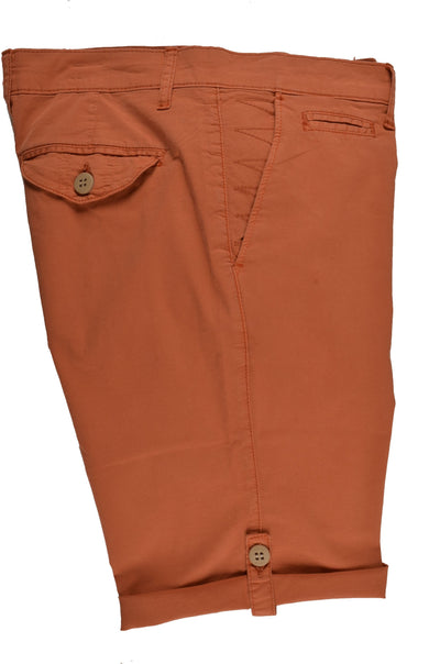 RABIN STRETCH SLIM FIT TAB LEG SHORT ORANGE