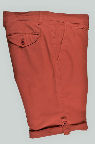 RABIN STRETCH SLIM FIT TAB LEG SHORT RED