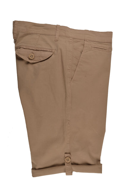 RABIN STRETCH SLIM FIT TAB LEG SHORT BEIGE