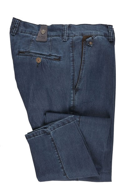 ALPINO LEONE TENCEL STRETCH DENIM JEAN BLUE