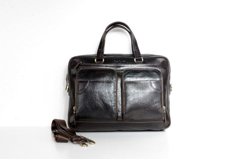 BELLUCCI 5048 LEATHER BAG BROWN