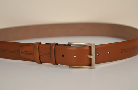 PSM 4103 38MM LEATHER BELT TAN