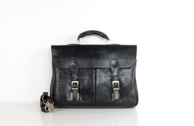 BELLUCCI 5015 LEATHER BAG BLACK