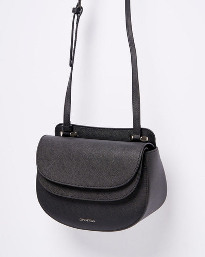 Cromia 1403837 Perla Crossbody Shoulder Bag BLACK