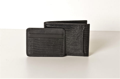 BOND 566-902 LEATHER WALLET BLACK