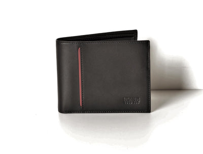 BOND 581-1 LEATHER WALLET BLACK
