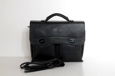 Gianni Conti Leather Satchel BLACK