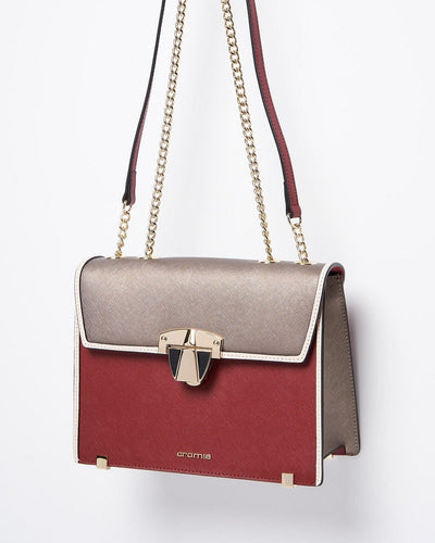 Cromia 1403950 Abby Chain Strap Shoulder Bag BORDO
