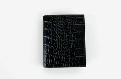 Gianni Conti Bi-Fold Card ID Wallet BLACK