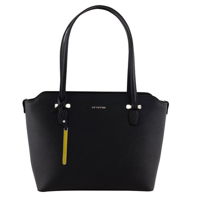 Cromia 1403590 Perla Leather Tote BLACK